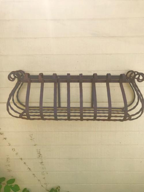 Wrought Iron Scroll Window Box