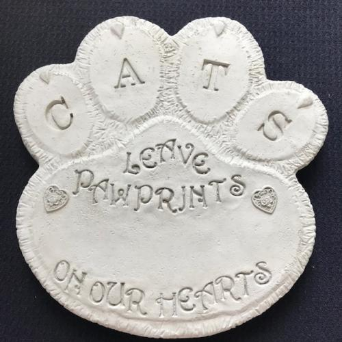 Cats Leave Paw Prints Stone