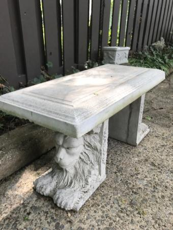 Lion Garden Bench -3pc