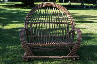 Handmade Bentwood Willow Setee