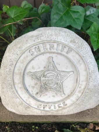 Decorative Sheriff Stone